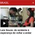 Ex-ginasta, Laís Souza fala dos custos altos para manter o tratamento e controlar o xixi